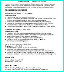 Hotel Front Desk Resume Sample by 11 Best Office Clerk Images On Pinterest Resume Templates