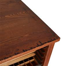 Oak Desk Type Large Oak Hamilton Type Tray Cabinet Rejuvenation