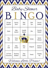 prince baby bingo cards printable download prefilled baby