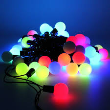 led color changing globe string lights with remote panpany 50 led solar string lights 22 3ft outdoor globe lights multi