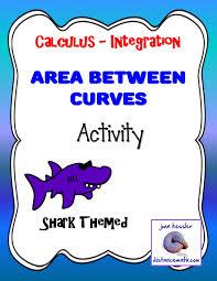 calculus integration area between curves fun activity ap