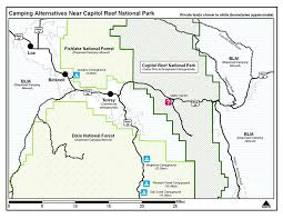 capitol reef national park map cing alternatives capitol reef national park u s national