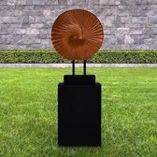large garden sculptures modern metallic twist abstract statue