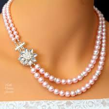 swarovski necklace pink images Pink pearl necklace swarovski pearl jewelry anastasia little JPG