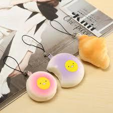 35pc exquisite mini kawaii panda squishy charm straps soft bread