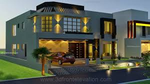 3d front elevation com 1 kanal house drawing floor plans layout