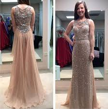 gold sequin prom dresses see through prom dress sparkly prom