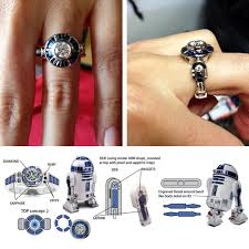 Star Wars Wedding Rings by R2 D2 Custom Star Wars Engagement Ring Disney Every Day