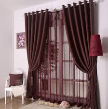 Burgundy Curtains For Living Room Bedroom Or Living Room Decorative Dark Red Curtains