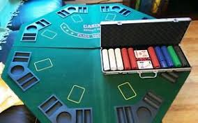poker table top and chips poker set including poker table top chips cards etc ebay