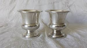 antique sterling silver toothpick holder cup urn pair webster co