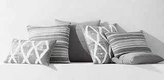 Linen Covers Gray Print Pillows White Walls Grey Pillow Collections Rh