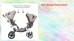 abc design zoom zwillingswagen abcdesign 2016 zwillingswagen zoom black