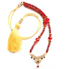 red crystal bead necklace images Rudraksha mala necklace golden pendant amazing rudraksha jpg