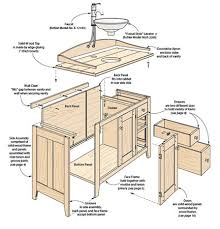 shaker style cherry vanity woodsmith plans bathroom vanity