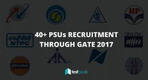 list of 40 psus recruitment through gate 2017 testbook blog