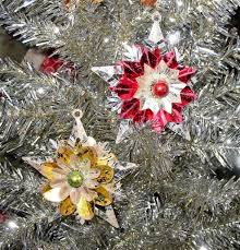 vintage style reflector foil christmas ornaments set of 2 silver