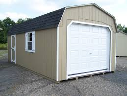 outdoor 1 car grey wooden portable garage costco with white metal