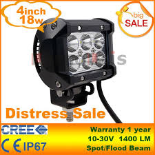 led lights for motorcycle for sale 4 inch 18w cree led work light bar l for motorcycle tractor boat