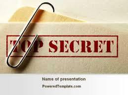 top secret report template top secret documents powerpoint template by poweredtemplate