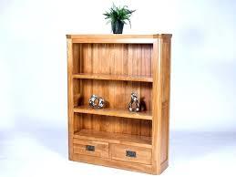 house kids bookshelf with shelves drawers in rustic oak finish