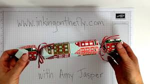 christmas crackers using the envelope punch board youtube