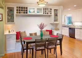 cottage dining room with built in wine rack by the cleary company