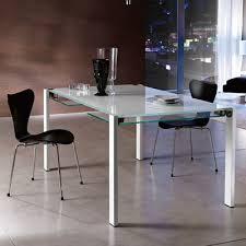White Glass Extending Dining Table Livingstone 120cm White Glass Extending Dining Table