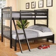Black Wooden Bunk Beds Black Wooden Bunk Bed Home Interior Design 27547