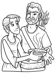 the awesome and beautiful jacob and esau coloring pages pertaining