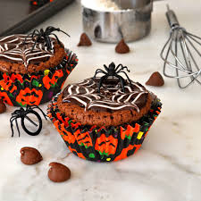 Halloween Chocolate Cakes by Cooking With Manuela Homemade Halloween Brownie Cupcakes Recipe