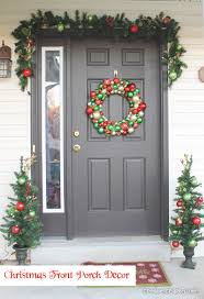 front porch christmas decorations christmas front porch decor create craft idolza how to decorate