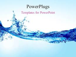 Water Powerpoint Templates by Powerpoint Template A Beautiful Fish And A Water Splash With