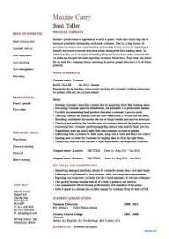 Resume Skills For Bank Teller Download Bank Teller Resume Skills Haadyaooverbayresort Com