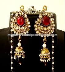 jhumka earring indian kundan kashmiri jhumka earring kashmiri jhumka ethnic