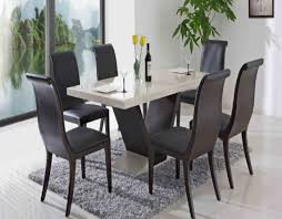 fantastic dark wooden chairs around contemporary dining table