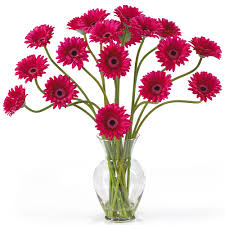 10375 Gerber Daisy Liquid Illusion Silk Flower Arrangement 10375 Silk