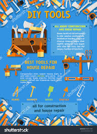 house repair tool carpentry equipment sketch stock vector