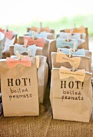 wedding favors bags of boiled peanuts wedding favors brides