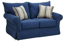 Modern Blue Sofa Denim Fabric Modern Sofa Loveseat Set W Options