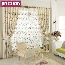 compare prices on pastoral butterfly linen curtains online