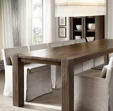 restoration hardware dining room tables russian oak parsons rectangular dining table