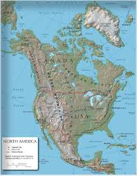 North America South America Map by North America