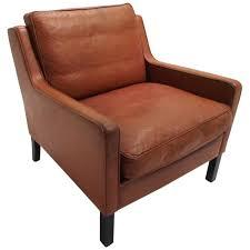 Leather Club Armchair Danish Thams Kvalitet Tan Brown Leather Armchair Mid Century