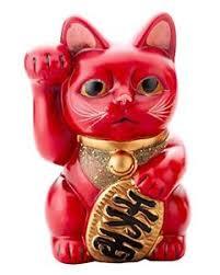 retro lucky beckoning cat ornament maneki neko 626 k5292 ebay