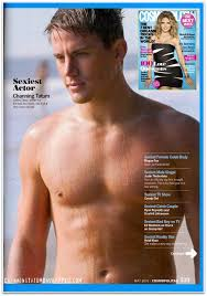 cosmopolitan title in the press channing tatum wins cosmo u0027s sexiest actor title