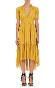 silk dresses ulla johnson sonja ruffle silk dress barneys new york