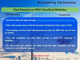 best job sites to post resume easy way of getting jobs in dubai at www oforo com