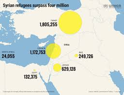Syria Conflict Map by Unhcr Tracks Four Million Syrians Flee War And Persecution
