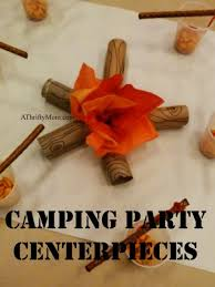Party Centerpieces Camping Party Centerpieces Great For A Camping Party